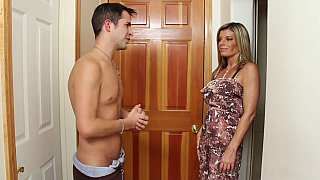 Handyman Kris is helping his buddy's mom Kristal