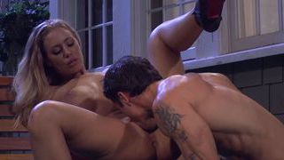 Nicole Aniston hardcore on the porch
