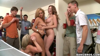 A dozen college kids have a drunken party