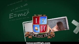 InnocentHigh - Shy Schoolgirl Fucks Her Speech Teacher