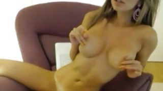Busty amateur blonde girl shos of on cam