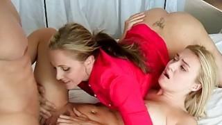Julia Ann shared cock with Natalia Starr