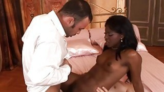 PARADISE FILMS Ebony Jasmine has got into double t