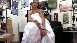 Fucking the bride in wedding dress makes my cock hard