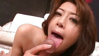 Maki Hojo rides cock and swallows fresh jizz