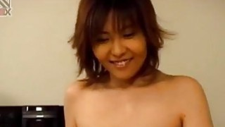 Shiori Kamiya with playful boobs rides dong