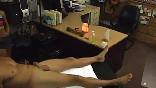 Cute asian pawns her snatch and pounded in the backroom