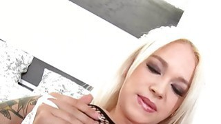 Petite european blonde uber hot tease