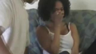 Bigtit ebony GF blows thick black dick