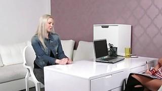 Female agent recording oral sex