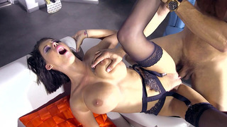 Chesty brunette bombshell Peta Jensen getting stuffed with cock