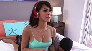 Beautiful big booty latina Sophia Leone plays and fucks