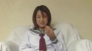 Asian teen gives an amazing cock sucking