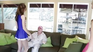 Papa cheer coach eats Alexa Grace pussy and bang her pussy