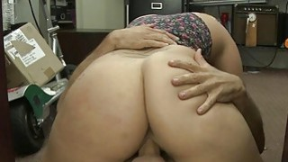 Huge titted blonde screwed by pawn guy