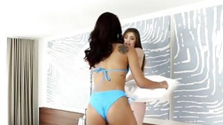 Gina Valentina and Kobi Brian having hot lesbian action