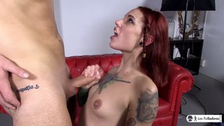 Spanish redhead Silvia Rubi casually picks up a random guy to fuck