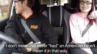 Very hot american girl Chloe Carter anal fucked in car