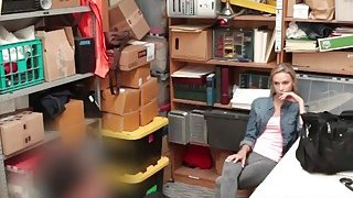 Blonde teen shoplifter fucked hard by a security guard inside the office