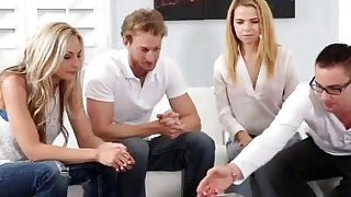 Alina West bad influence with family members convinced them for foursome