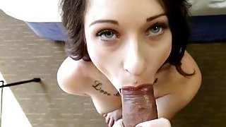 Perfect pecker rider at a casting