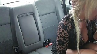 Busty blond mature fucked by the driver to off her fare