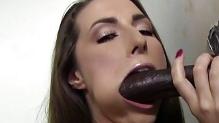 Paige Turnah Tries Her First Black Gloryhole Cock
