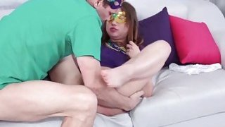 Horny sweet Taylor Sands sucking large massive dick