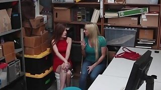 Sexy thieves Christie and Nina punished for sex