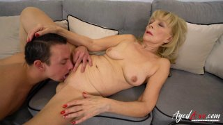 AgedLovE Blonde Mature Fucked Hard By Youngster